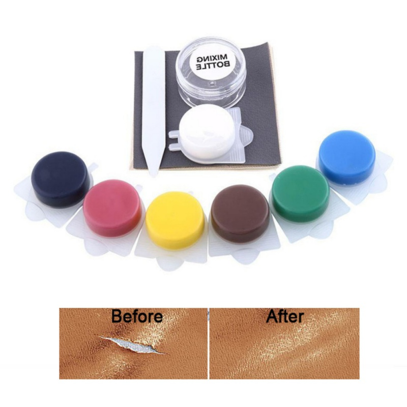 10Pcs/set Repair Tool Liquid Skin Leather Car Seat Sofa Coats Holes Scratch Cracks Rips No Heat Liquid Leather Vinyl Repair Kit