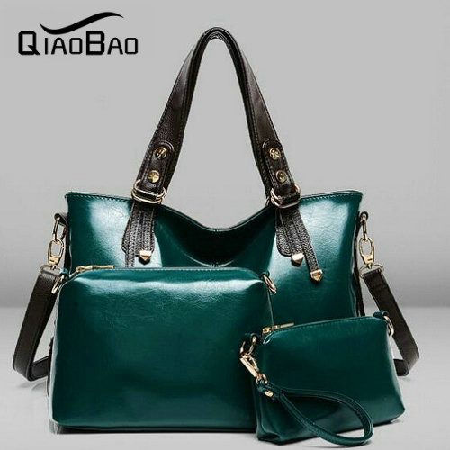 QIAOBAO Women Handbags Sets Genuine leather bag Women Messenger Bags Design Ladies Tote Bag Handbag+Shoulder Bag+Purse 3 Sets qiaobao 2017 new 100% cowhide leather handbags women patchwork ladies hand bags girls soft genuine leather shoulder bag ladybag