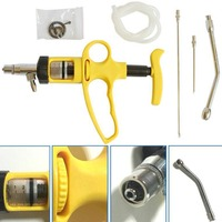 10ml Continuous Syringe Gun Feeding Needle Vaccinator for Cattle Sheep Goats Livestock Tool