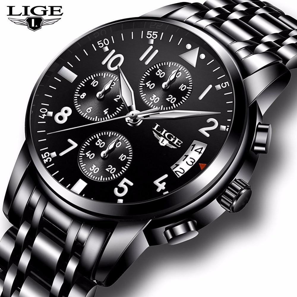 Mens Watches Waterproof Quartz Business Watch LIGE Top Brand Luxury Men Casual Sport Watch male Relogio Masculino relojes hombre
