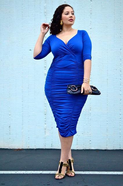 Bandage dress curvy girl fashion