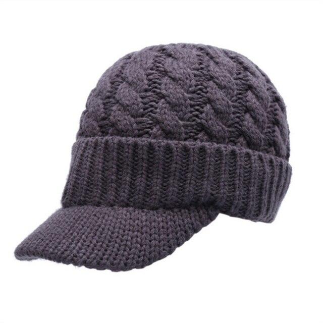 Efinny для женщин теплые зимняя шапка с козырьком вязаные шапки