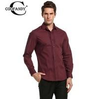 Coofandy Men Formal Shirt Office Work Business Long Sleeve Front Pleated Button Black White Dress Shirt