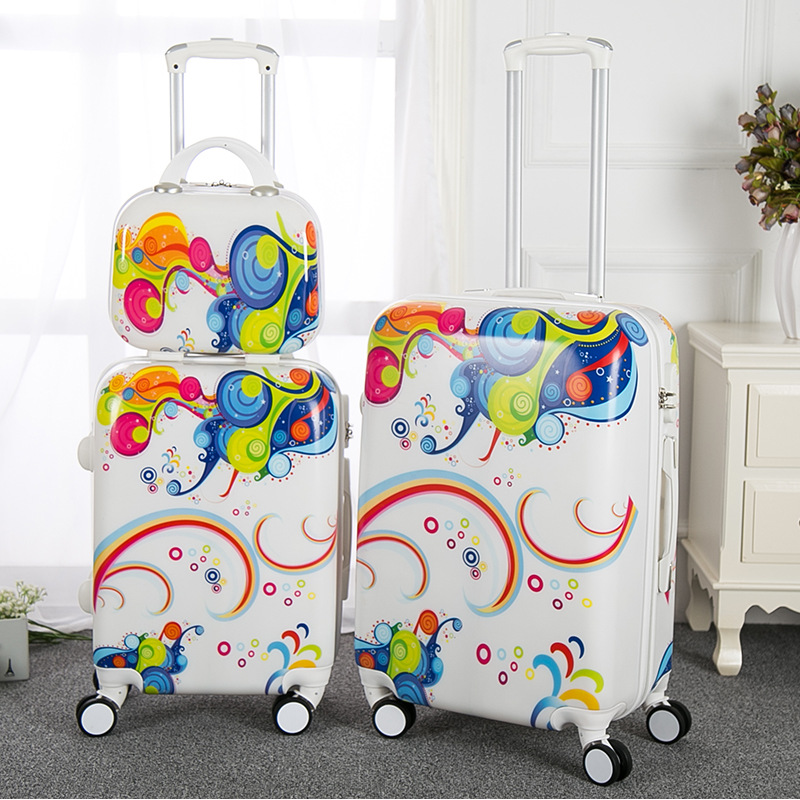 New Fashion Rolling Luggage Set PC Women Suitcase Travel Bag Expandable Spinner Trolley Boarding Box Handle Bag Trunk Carry On car trunk storage box folding suitcase with wheel portable new top quality travel trolley carts 3 colors daily usage