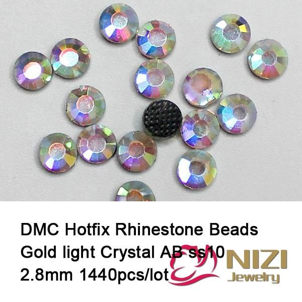 Shiny 1440pcs ss10 Crystal Clear AB DMC Hotfix Adhesive Rhinestones ...