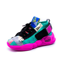 New Fashion Kids Sneakers Running Booties Shoes Boys Sport Shoes Girls Breathable Knit Socks Sneakers Outdoors Soft Casual Shoes
