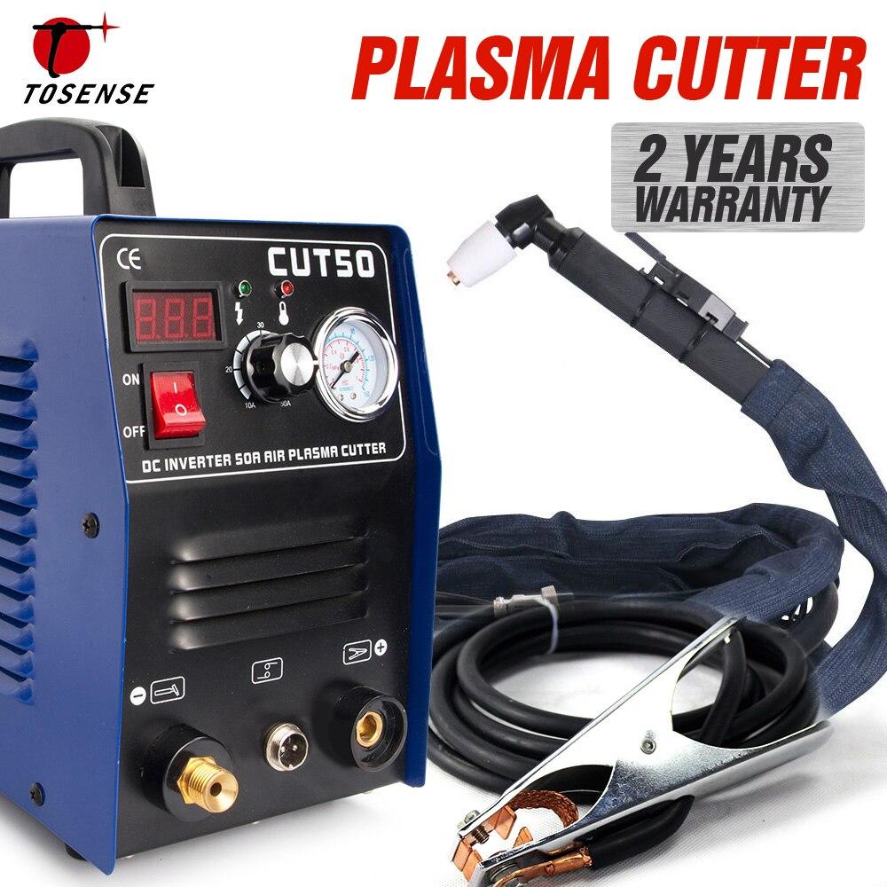 Livraison gratuite nouvelle Machine de découpe Plasma CUT50 220V tension 50A Plasma Cutter avec accessoires de soudage gratuit PT31