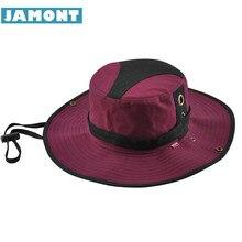 084ce6306  JAMONT  Outdoor Summer Caps Sunscreen Bucket Hats Cotton Patch Visor Men  Women Summer Panama