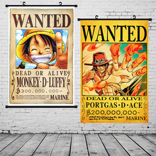 One Piece Poster Scroll Wall Art Picture Luffy Canvas Painting Posters