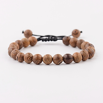 Elastic Natural Wood Beads Bracelet Bracelets Jewelry New Arrivals Women Jewelry Metal Color: ABK040-1