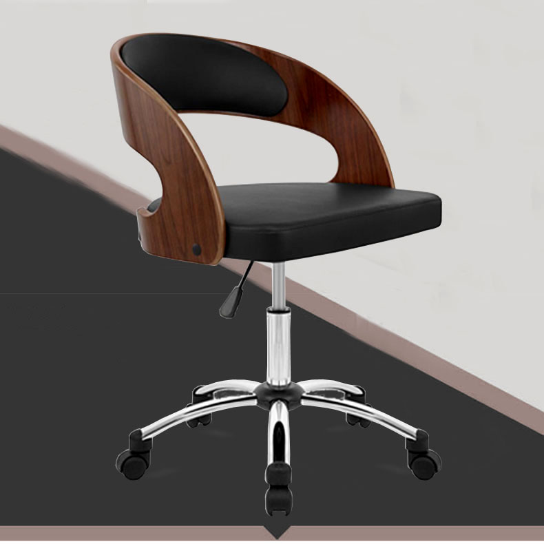 modern midback leather executive wood swivel office chair furniture executive leather ergonomic office computer