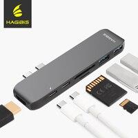 Hagibis 7 In 1 Dual USB C HUB Type C Hub Adapter USB C To HDMI