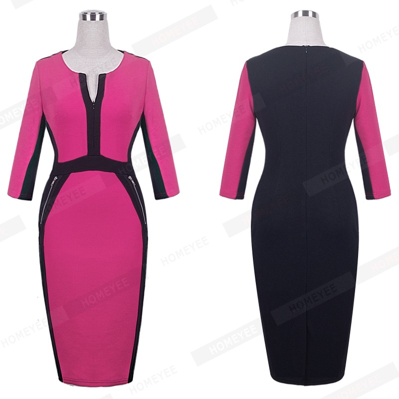 Plus Size Elegant Bodycon Pencil dress 31