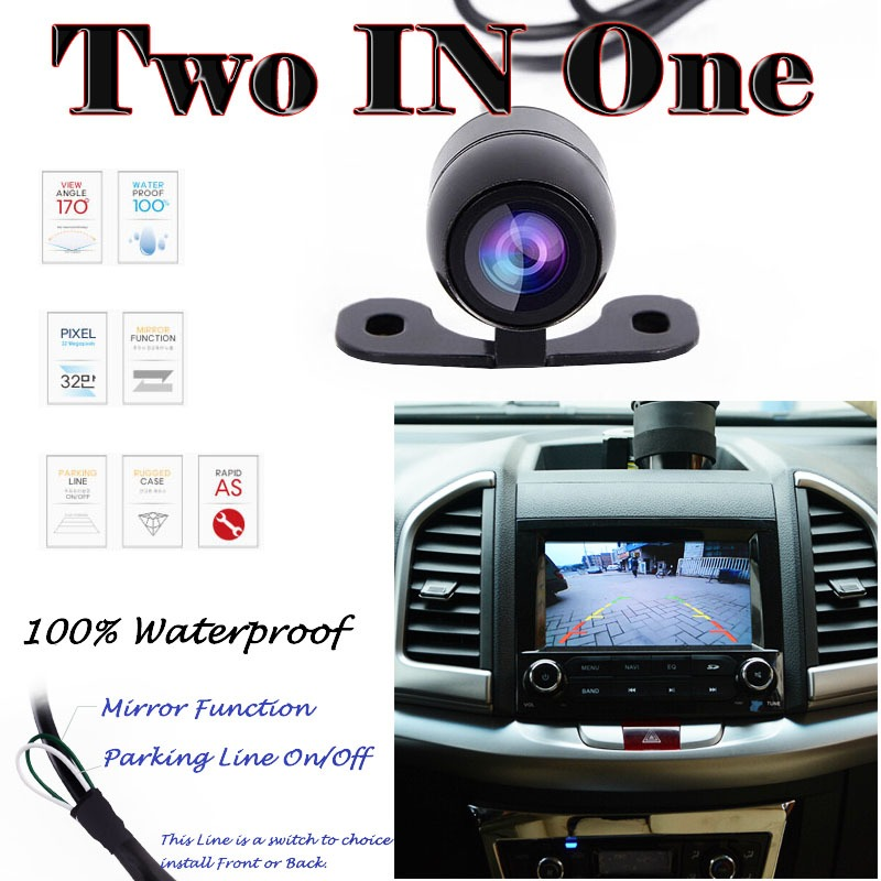 Russian us shipment New 170 degree waterproof Mini Color CCD Reverse Backup Car ReaFront ...