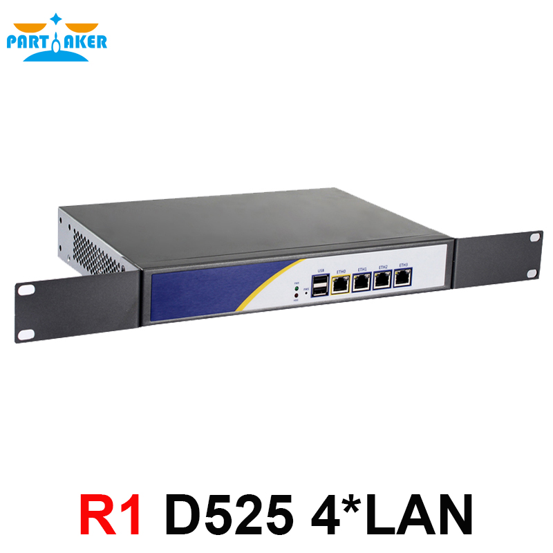 цена на Firewall server with D525 1.8G 4*intel PCI-E 1000M 82583v Lan support Panabit Wayos ROS Mikrotik PFSense 2G RAM 8G SSD