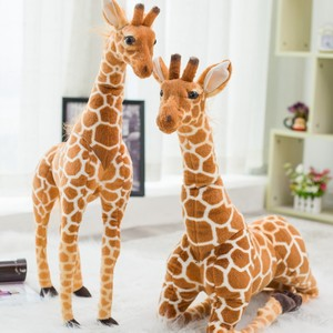 Giant Size Real Life Giraffe Plush Toys Cute Stuffed Animal Dolls Soft Simulation Giraffe High Quality Birthday Gift Kids Toy