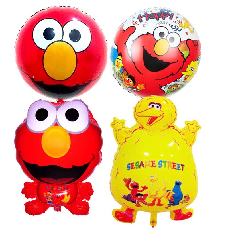 Elmo giant ballon Sesame Street foil balloons classic toys happy birthday Balloo