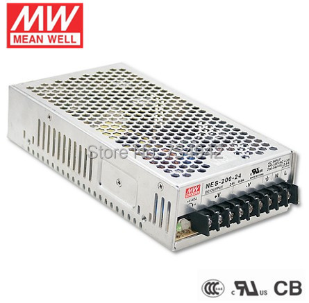 цена на MEANWELL 24V 200W UL Certificated NES series Switching Power Supply 85-264V AC to 24V DC