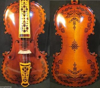 Deluxe fancy Norwegian fiddle 4/4 violin 4*4 of profession concert violin #10264
