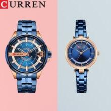 CURREN zegarek dla pary mężczyźni moda zegarek kwarcowy zegarki damskie proste na co dzień ze stali nierdzewnej bransoletka zegarki zegar kwarcowy zegarek mężczyzna panie prezent