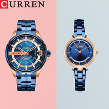 CURREN часы для пары мужские модные кварцевые женские часы простые повседневные часы из нержавеющей стали браслет наручные часы Мужские Женские подарок
