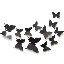 3D Butterfly Animal cartoon 12Pcs vinyl wall stickers home decor room accessories Design wall art decals house decoration LY2