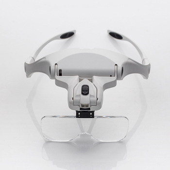 2 LED العصابة المكبر 1x 1.5x 2x 2.5x 3.5x رئيس العين القراءة مكبرة نظارات لحام إصلاح مصباح المكبر العدسة مع مربع
