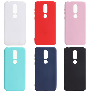 Ricestate Matte Silicone TPU Soft Back Cover Case For Nokia X5 X6 1 2 3 5 6 8 X3 X5 2.1 3.1 5.1 6.1 Plus 2018 solid color case(China)