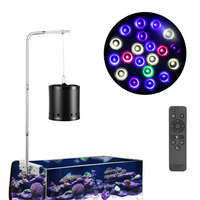 60W Aquarium Grow Light Remote controlled LED Full Spectrum Lights for Coral Reef Fish Freshwater and Saltwater Marine Tanks