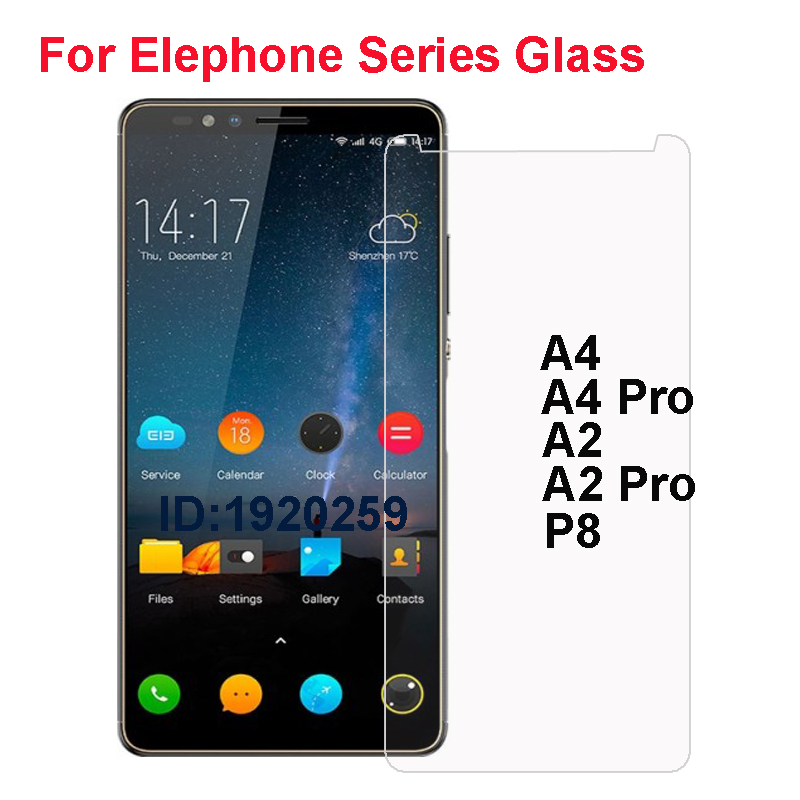 Elephone P8 Tempered Glass 9H High Quality Protective Film Explosion-proof Screen Protector For Elephone A2 A4 Pro