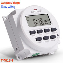 TM618H DC 12V 24V AC 110V 120V 220V 230V Volt Voltage Uitgang Digitale 7 dagen Wekelijkse Programmeerbare Tijdschakelaar Tijdrelais Controle