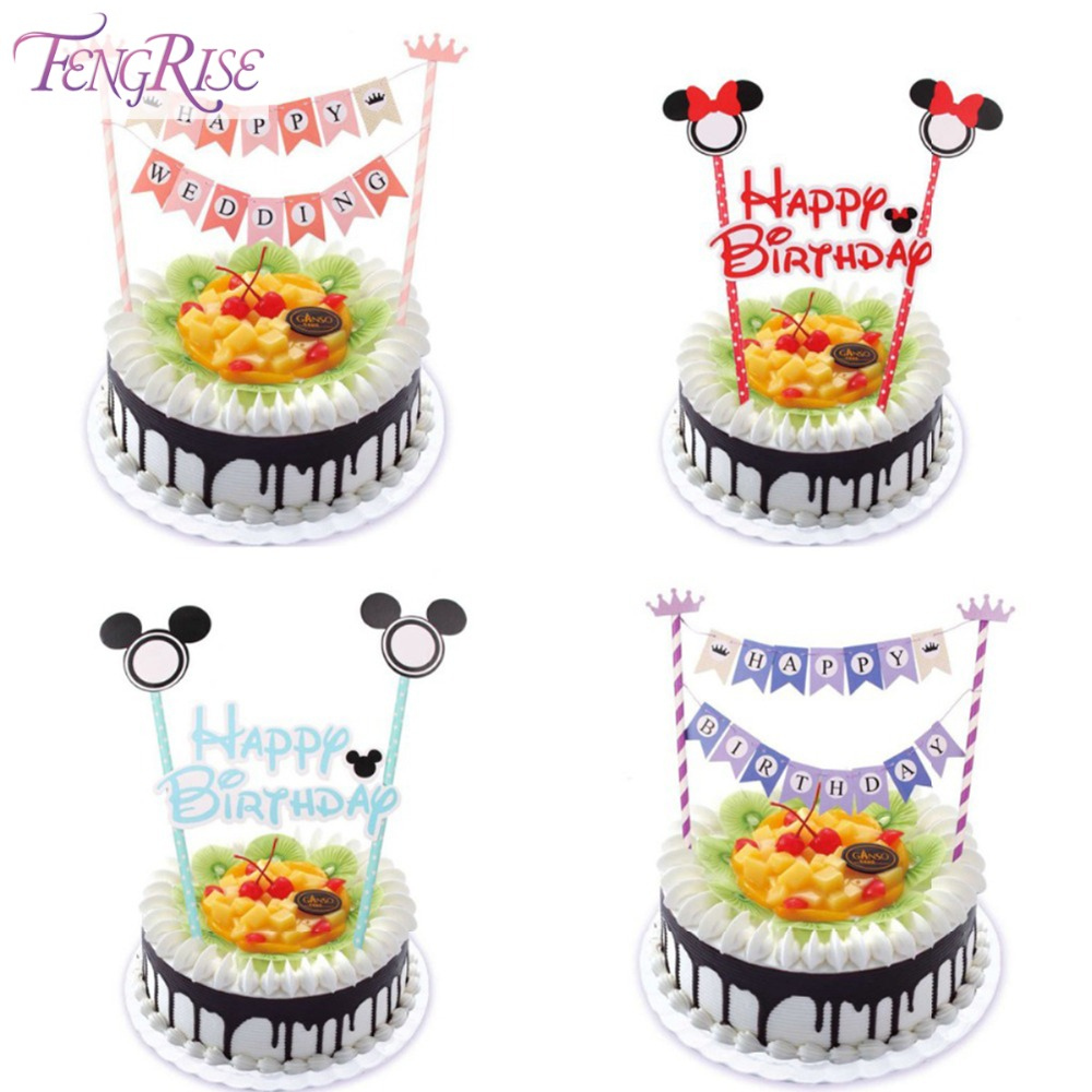 FENGRISE Mickey Cake Bunting Happy 1st Birthday Kids ...