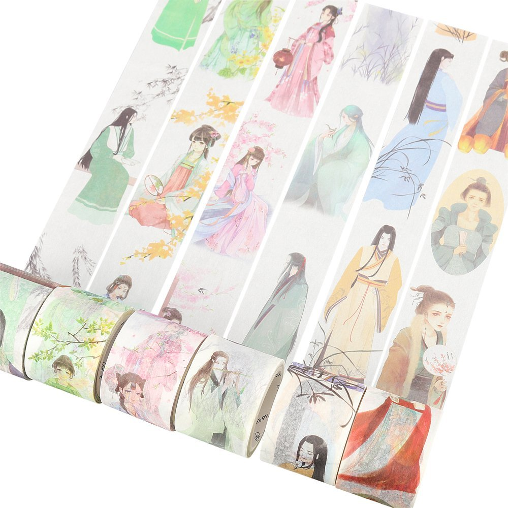 Japanese Caricatures Washi Tape Diy Scrapbooking Sticker Masking Paper Decoration Adhesive Tape Label Sticker Stationery