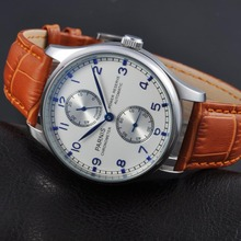 Parnis 43mm steel case Power Reserve Chronometer ST2542 Automatic mens Watch 1253(China)