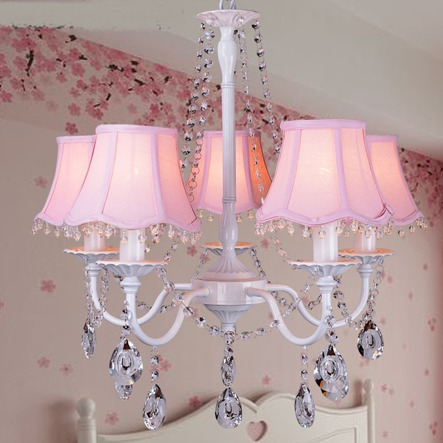 modern Nordic 3/5/8 heads pendant light crystal children\'s room ...
