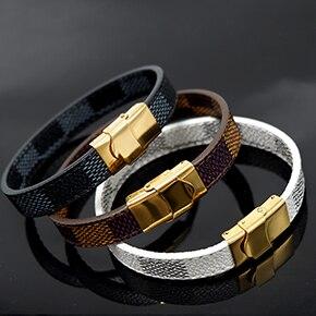 20   VEROMCA Leather-based Bracelet Stainless Metal Bracelets Males Jewellery Excessive High quality Charms Bracelets jewellery Magnetic Bracelet HTB12ELbqkCWBuNjy0Faq6xUlXXay