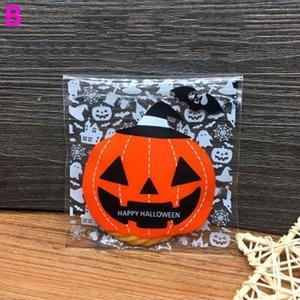 Image 3 - 100 ピース/パック素敵なハロウィンクッキーキャンディーパン包装袋多色自己粘着クッキー包装ポーチボックス