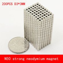 wholesale 200PCS D3*3mm mini cylinder N50 Strong magnetic force rare earth Neodymium magnet diameter 3X3MM