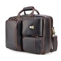 Весть Для мужчин из натуральной кожи Бизнес сумки для ноутбуков вести сумка мешок руки Многофункциональный рюкзак сумка через плечо 3566