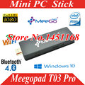 Windows 10 Mini PC android TV Vara Meegopad T03 Pro mini pc vara Intel Cereja Quad Core 2G RAM 32G ROM TV Box Jogador vara