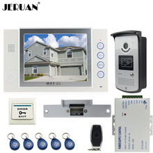 JERUAN Home luxury 8 inch TFT video door phone Record intercom system kit 700TVL RFID Access IR Night Vision Camera 8GB SD CARD