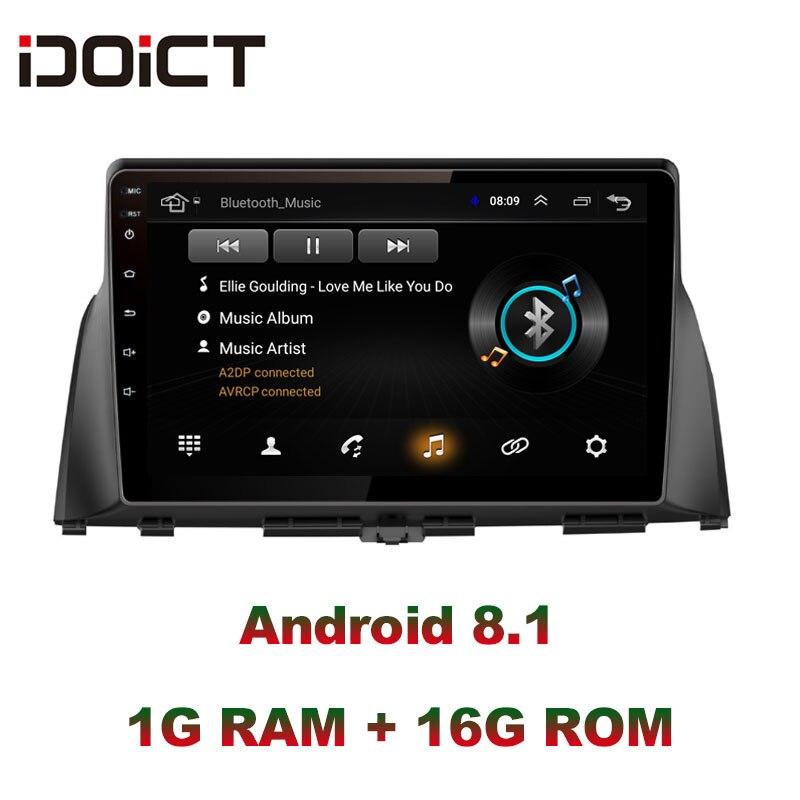 IDOICT Android 8.1 lecteur DVD de voiture GPS Navigation multimédia pour KIA optima K5 radio 2016 2017 voiture stéréo bluetooth