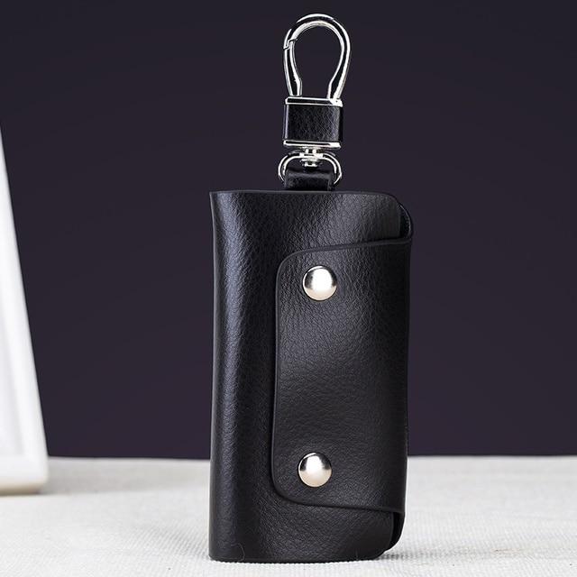 Fashion Split Cow Leather Key Holder Wallet Women Men Travel Keys Organizer  Bag 6 Key Rings 31b869011