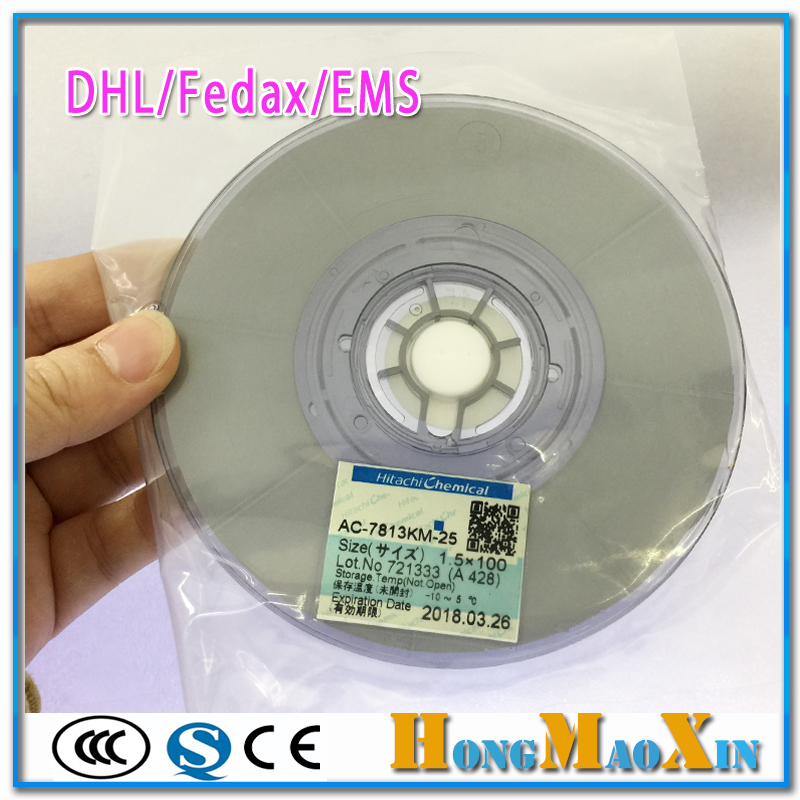 By DHL/Fedax/EMS For Hitachi AC-7813KM-25 Conductive Strip ACF Anisotropic Conduction Film Adhesive Between FPC/TCP And PCBBy DHL/Fedax/EMS For Hitachi AC-7813KM-25 Conductive Strip ACF Anisotropic Conduction Film Adhesive Between FPC/TCP And PCB