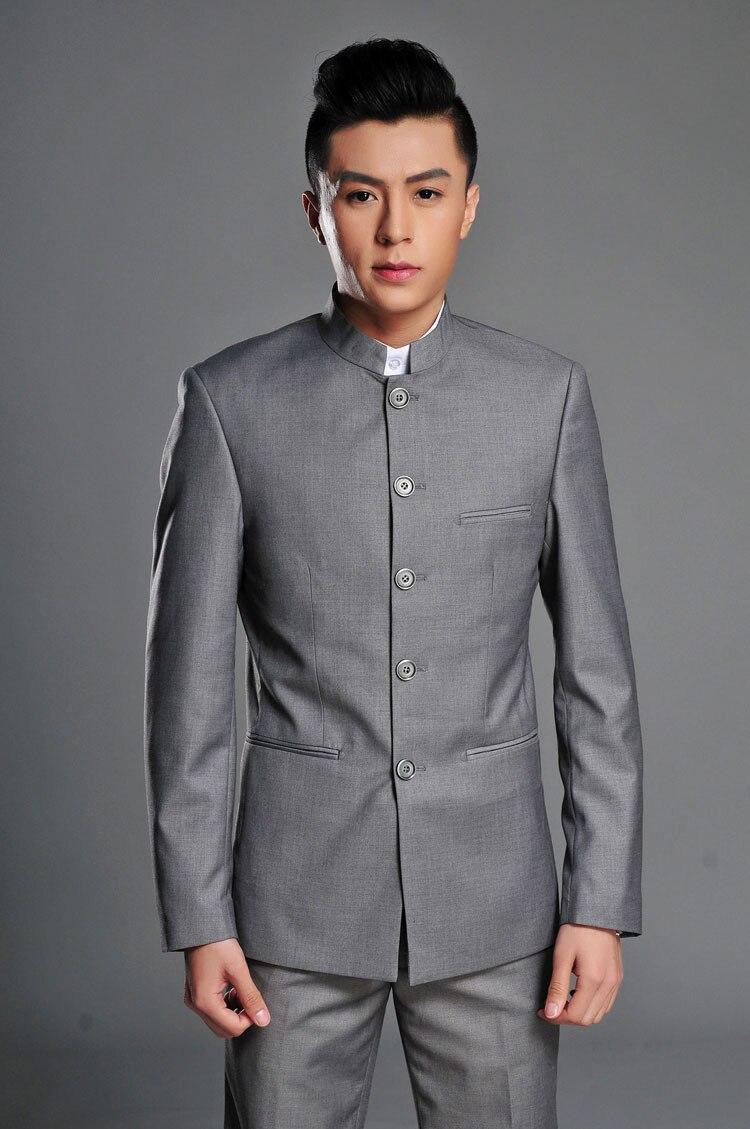 Marié Qualité Gris blanc Slim bleu Costume Blazers Top Costumes 2018 Pantalon Prom Noir Tunique veste Fit Custom Marque Hommes Mode Chinois black gris Tuxedo qwSfxPCnU