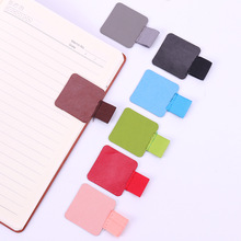 1PC New Self-Adhesive Leather Pen Clip Pencil Elastic Loop For Notebooks Journals Clipboards Pen Cover Office Stationery