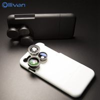 Camera Lens case pour l'iphone 6 s cas 4in1 Photographe Photo Eye Large Angle Macro 2x couverture de PC pour l'iphone 6 s plus fundas coque