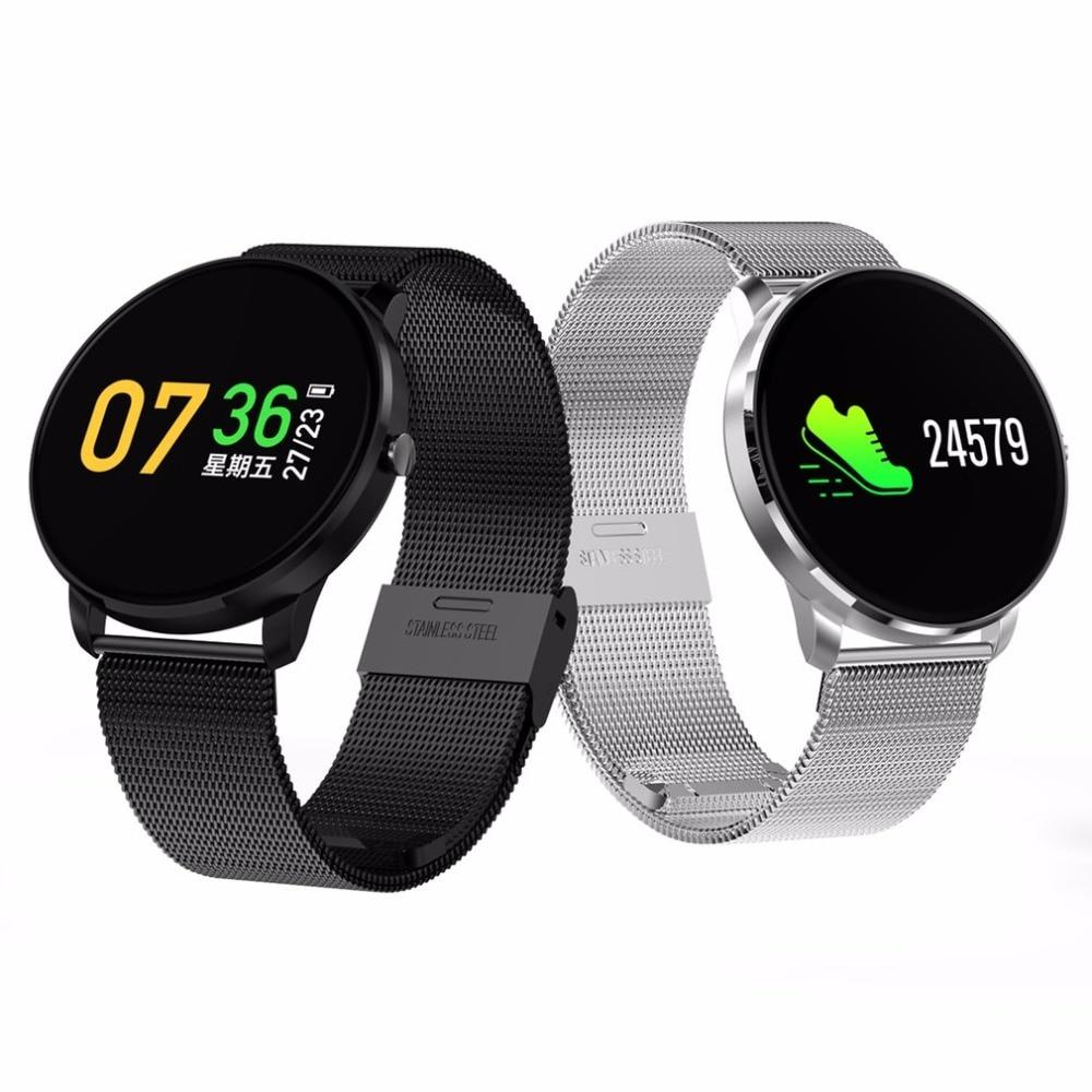 Metal strap CF007S Color Screen Sport Smart Wristband CF007 Heart Rate Blood Pressure Oxygen Waterproof Fitness Smart Bracelet цена