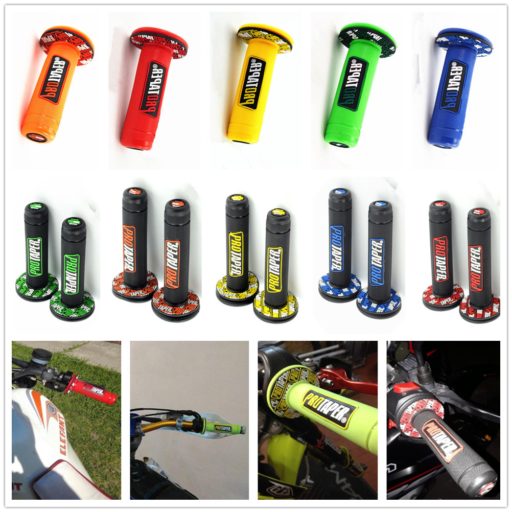 2018  Handle Grip Motorcycle Dirt Pit Bike Motocross Rubber Gel Hand Grips FOR HONDA CRF450R CRF250X CRF450X CRF230F  CRF250R