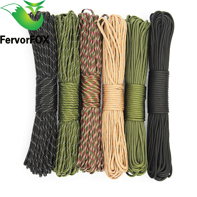 Paracord 550 Rope Type III 7 Stand 31m(100FT),10m(33FT) Paracord Parachute Cord Outdoor Camping Survival kit Wholesale Paracord yougle paracord 550 100ft woven bracelet rope type iii 7 stand parachute cord outdoor camping survival wholesale 179 185